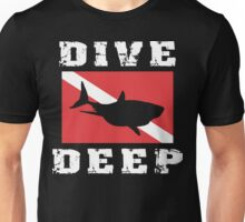 SCUBA Flag Shark Unisex T-Shirt