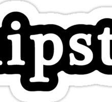 Hipster - Hashtag - Black & White Sticker