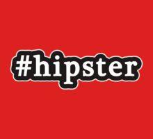 Hipster - Hashtag - Black & White Baby Tee
