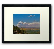 Wildfire in Colorado Framed Print