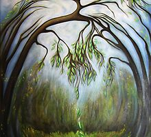 Weeping Willow Cathedral  by Marianne (Smith) Dalton (mdaltonart)