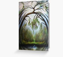 Weeping Willow Cathedral  Greeting Card