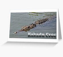 Kakadu Croc Greeting Card