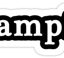 Vampire - Hashtag - Black & White Sticker