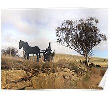 Horse & Gig, Heritage Hwy, Tasmania Poster