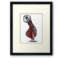 InDance: Red Framed Print