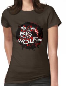 Big Bad Wolf (Sticker Version) Womens Fitted T-Shirt