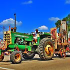 Green Tractor by EBArt