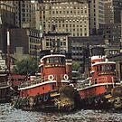 Resting tugs New York 195708240015 by Fred Mitchell