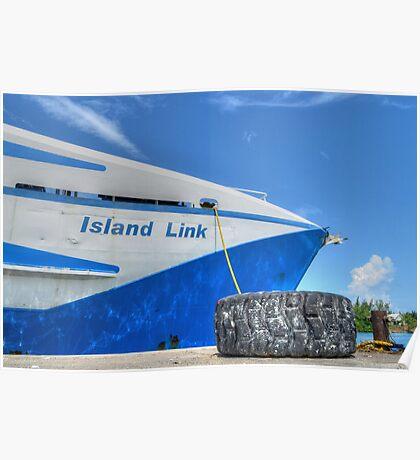 Cargo Boat at Potter's Cay - Nassau, The Bahamas Poster