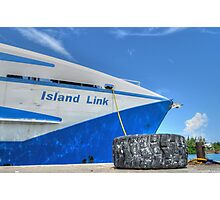 Cargo Boat at Potter's Cay - Nassau, The Bahamas Photographic Print