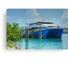 Bahamas Ferry at Potter's Cay - Nassau, The Bahamas Canvas Print