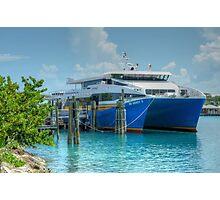 Bahamas Ferry at Potter's Cay - Nassau, The Bahamas Photographic Print