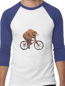 Bear on a Bike Men's Baseball ¾ T-Shirt