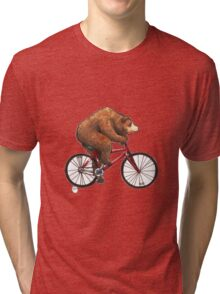 Bear on a Bike Tri-blend T-Shirt