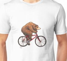 Bear on a Bike Unisex T-Shirt