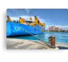 Mailboat Ferry docked at Potter's Cay in Nassau, The Bahamas Canvas Print