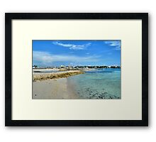View of Paradise Island from Fort Montagu in Nassau, The Bahamas Framed Print