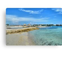 View of Paradise Island from Fort Montagu in Nassau, The Bahamas Canvas Print