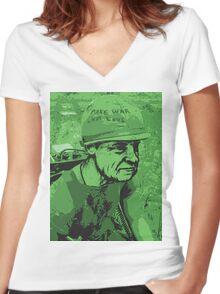 War Face Women's Fitted V-Neck T-Shirt