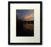 Sky Lake Framed Print
