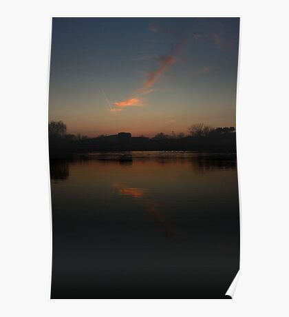 Jet stream Cloud Reflection Poster