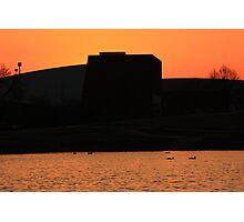 Sunset behind Lisle Senior High Photographic Print