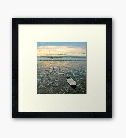 Playa Tamarindo Surf and Sunset Framed Print
