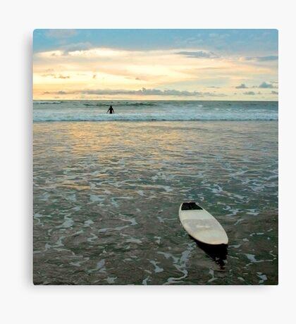 Playa Tamarindo Surf and Sunset Canvas Print