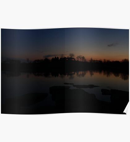 Sunset in Lisle Community Park Poster