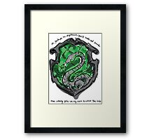 Slytherin Framed Print