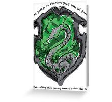Slytherin Greeting Card