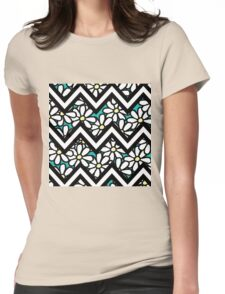 Smallish Daisy Turquoise Womens Fitted T-Shirt