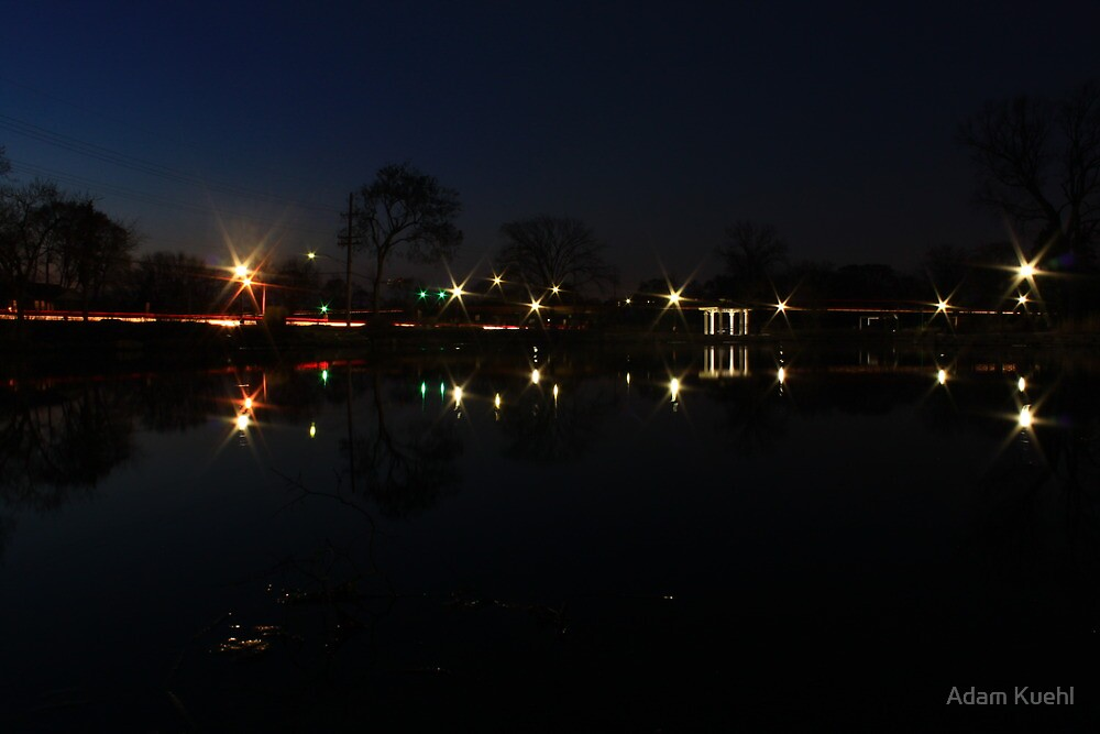 NightScape of Rt. 53 and Ogden by Adam Kuehl
