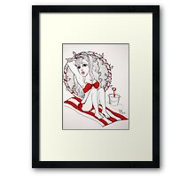 Red Bikini Framed Print
