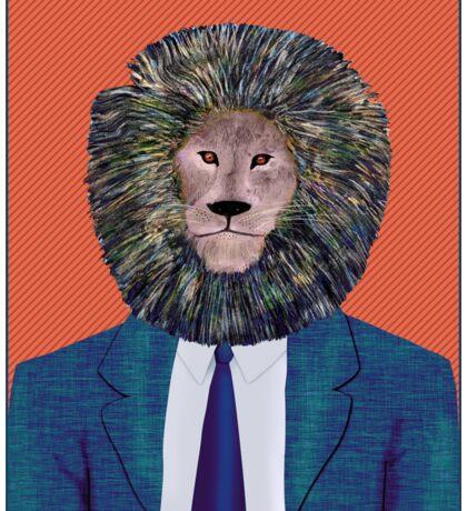 Mr. Lion's portrait Sticker