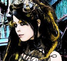 Steampunk girl Sticker