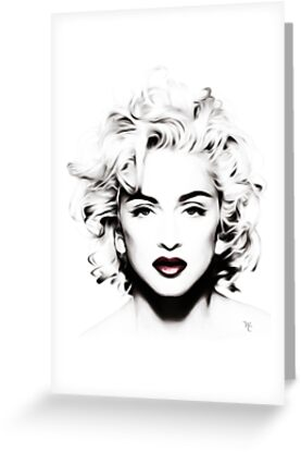 Madonna - Black and White - Head shot - Pop Art by wcsmack