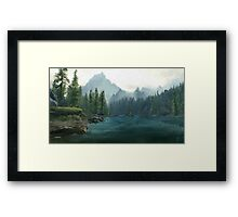 Alpine lake Framed Print