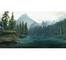 Alpine lake Photographic Print