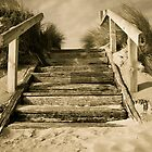 Windswept Beach stairs by DavidONeill