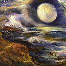 Moonset, My Ocean by Barbara Sparhawk
