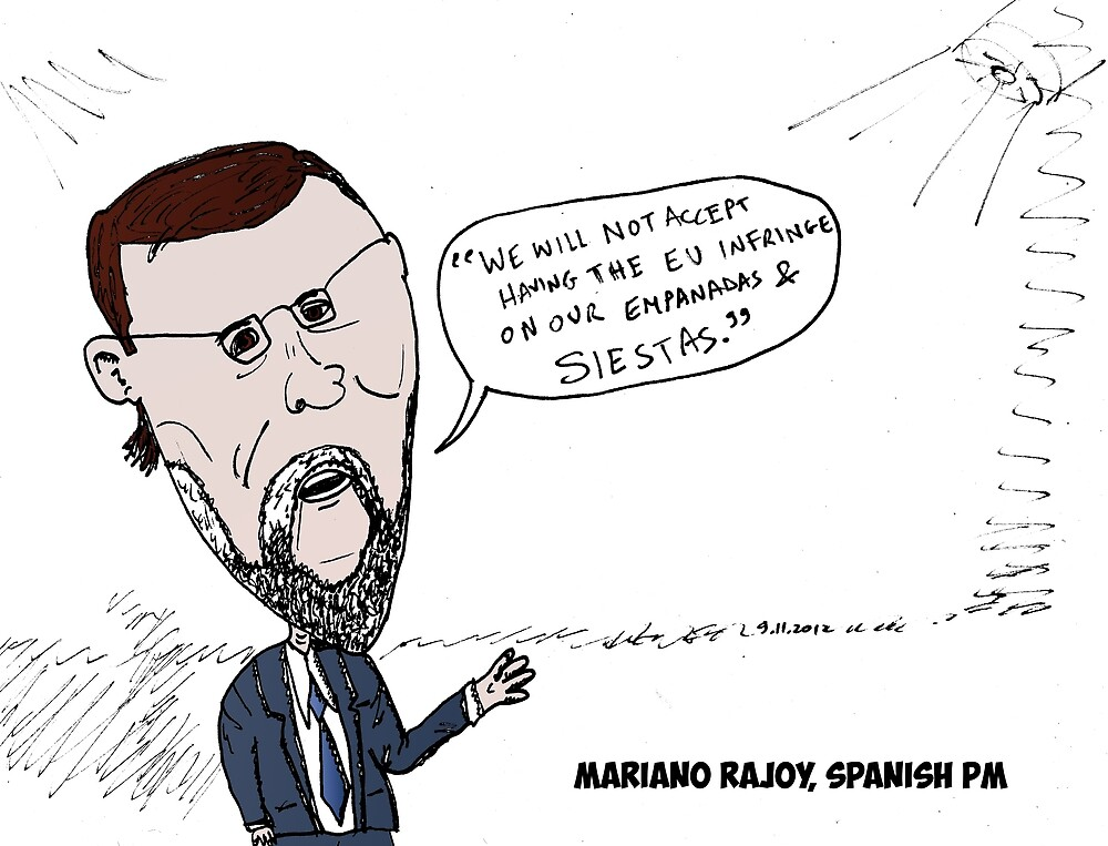 Mario Rajoy caricature by Binary-Options