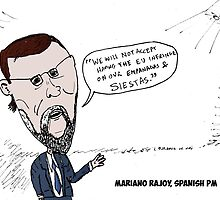 Mario Rajoy caricature by Binary-Options