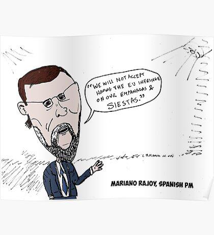 Mario Rajoy caricature Poster