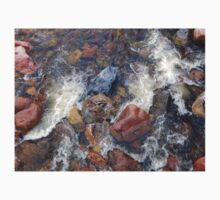 River rocks and rushing water One Piece - Long Sleeve
