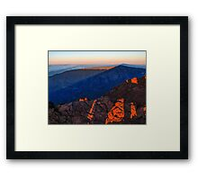 The morning light at Piton des Neiges Framed Print