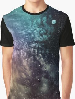 Polychrome Moon Graphic T-Shirt
