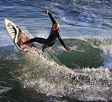 Surfing at Jan Juc by Darren Stones
