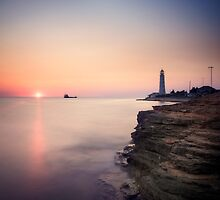 Lighthouse and submerged vessel by yurybird
